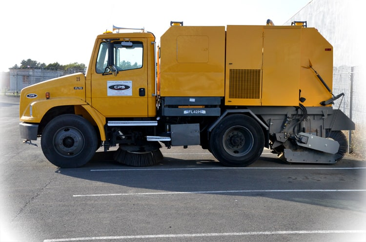CPS Parking Lot Sweeper Truck